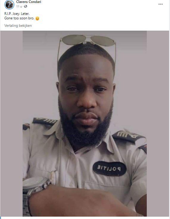 Joey Leter politie Suriname