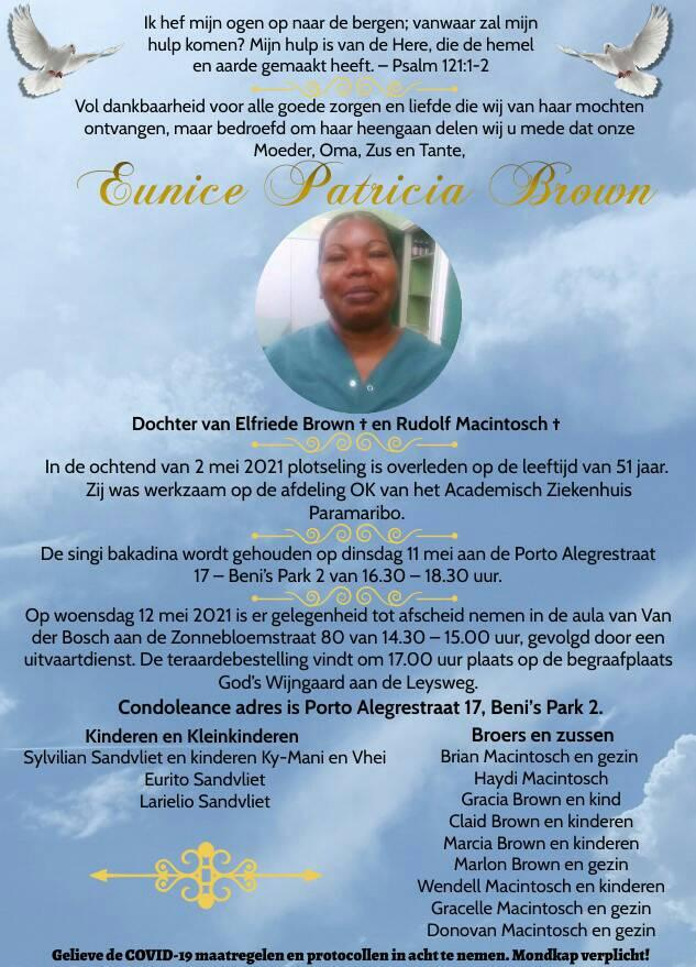 Eunice Brown AZP Paramaribo