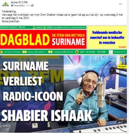Ishaak radio Suriname