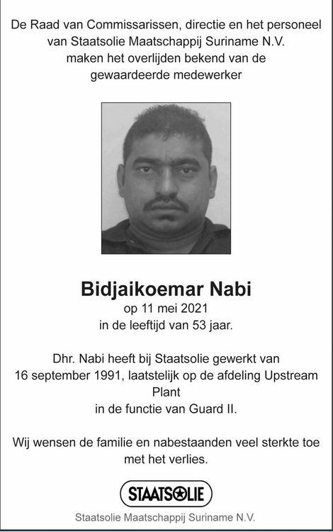 Staatsolie Suriname Nabi