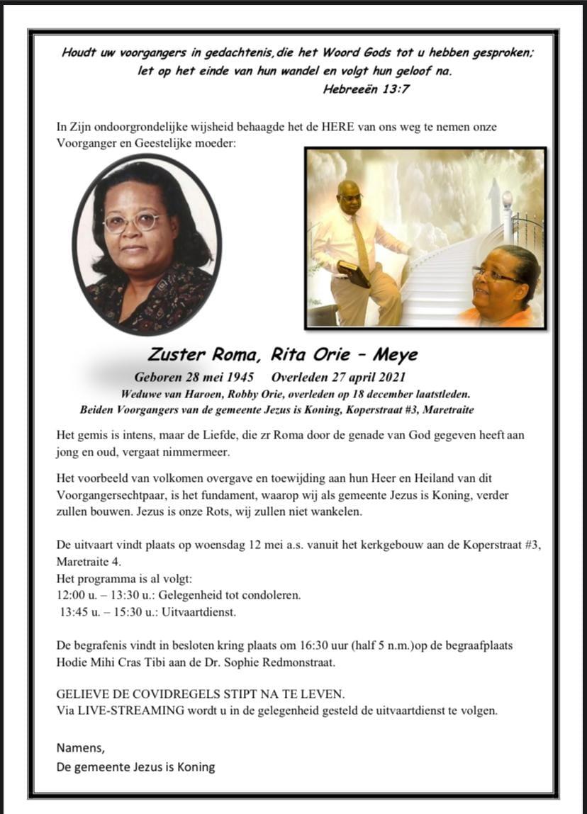 zuster Orie Paramaribo
