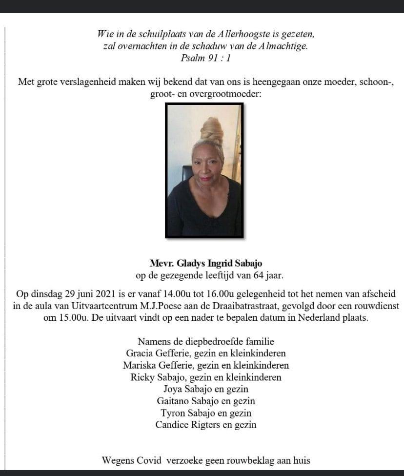 Gladys Sabajo Suriname