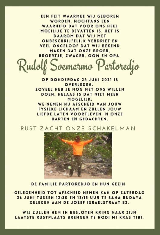 rudolf Partoredjo Suriname