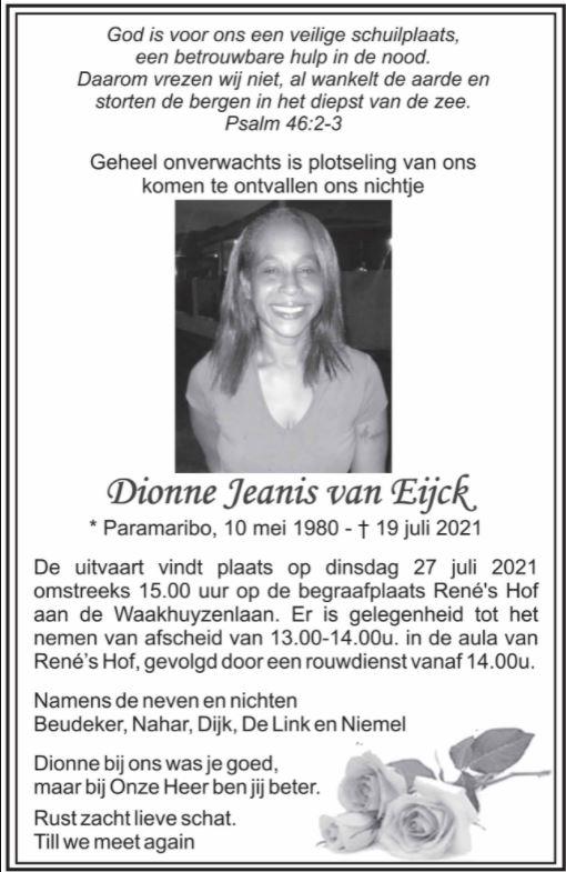 Dionne van Eijck Paramaribo