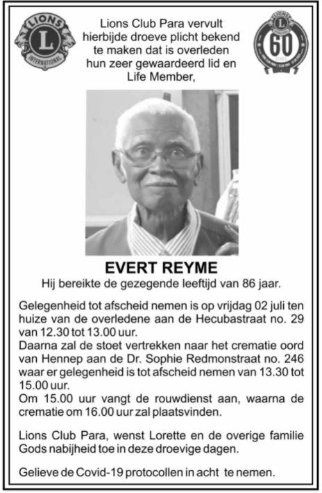 Evert Reyme Lions Para