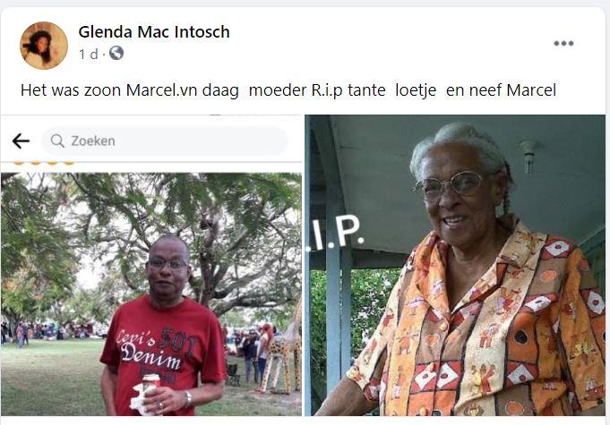 tant Loetje Marcel mac Intosh moeder zoon Suriname