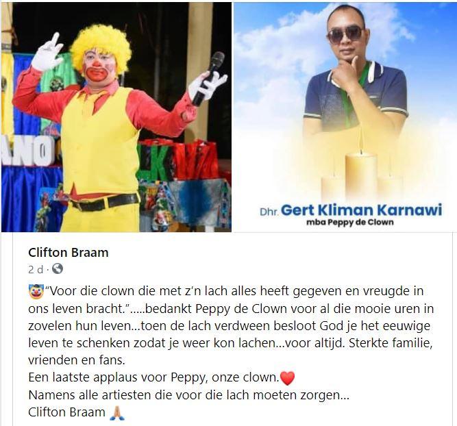 Peppy clown Suriname