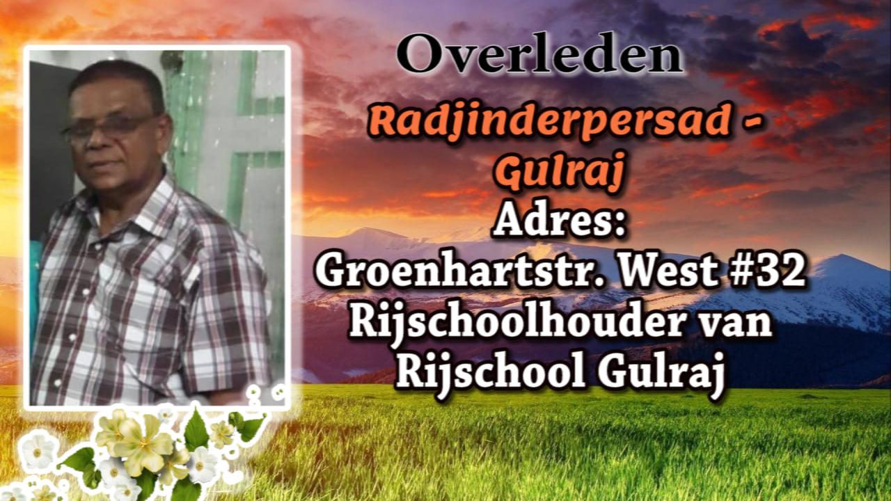 Radjinder Gulradj rijschool Suriname