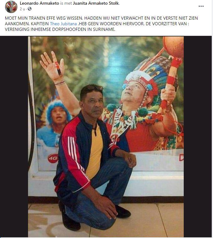 Theo Jubitana Inheemsen Suriname