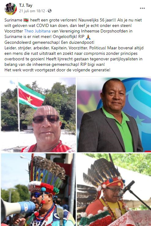 Theo Jubitana Inheemsen Surina
