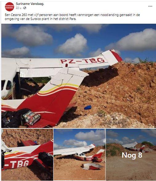 vliegtuig Suriname Paramaribo