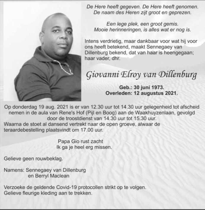 Giovanni Dillenburg video familie Suriname Paramaribo
