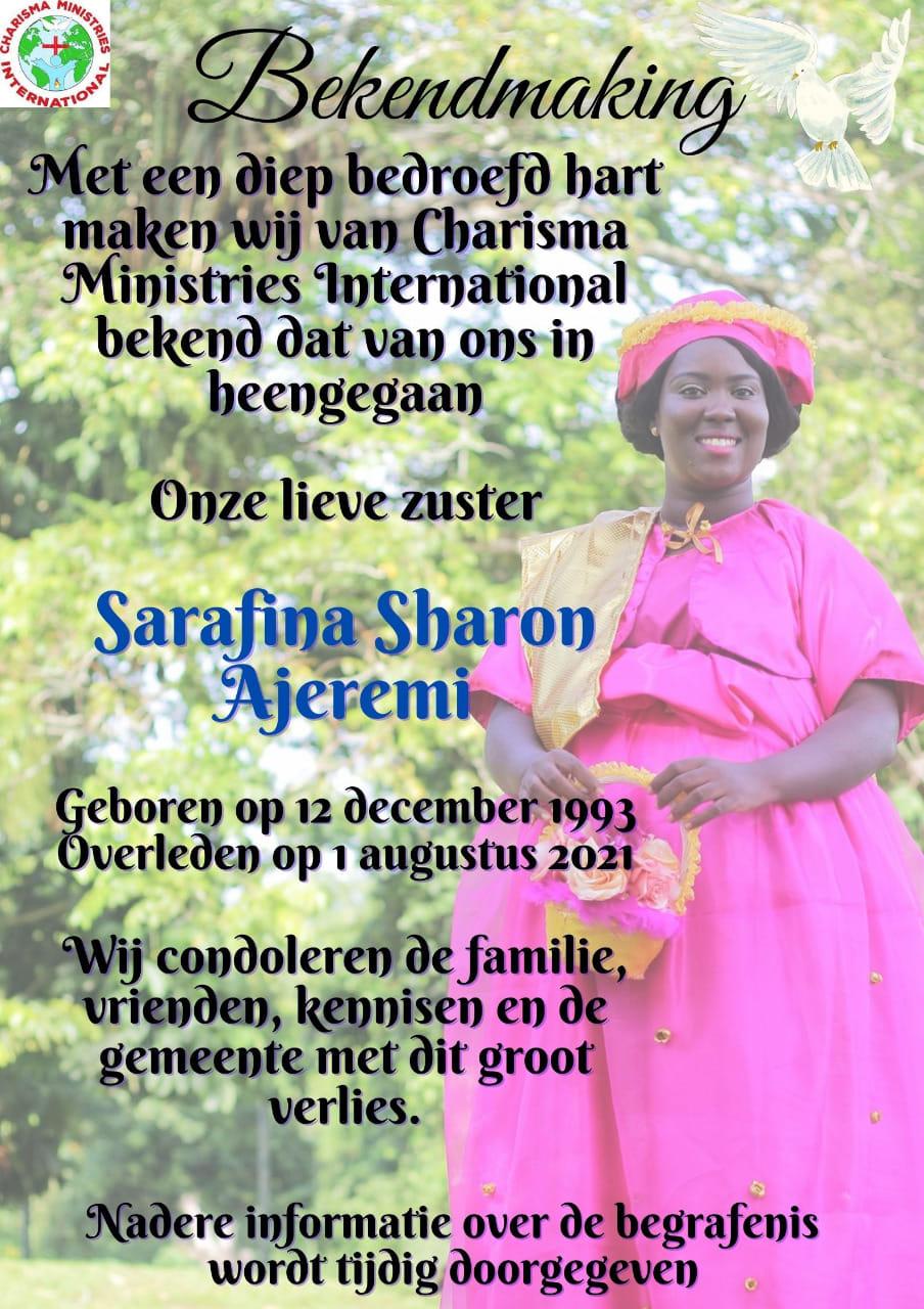 Sarafina Ajeremi Suriname Paramaribo