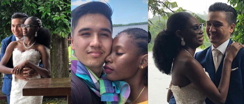 Bodhi Vreden en Coretta Mando zijn getrouwd – trouwen in Paramaribo – foto's