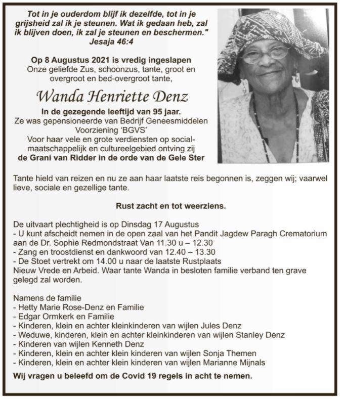 Wanda Denz Suriname Paramaribo