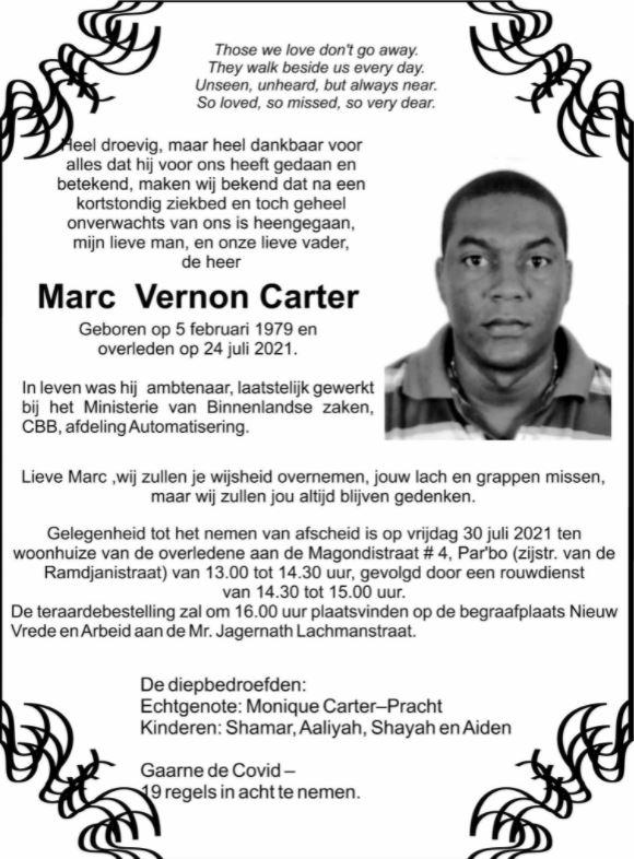 carter Marc Paramaribo