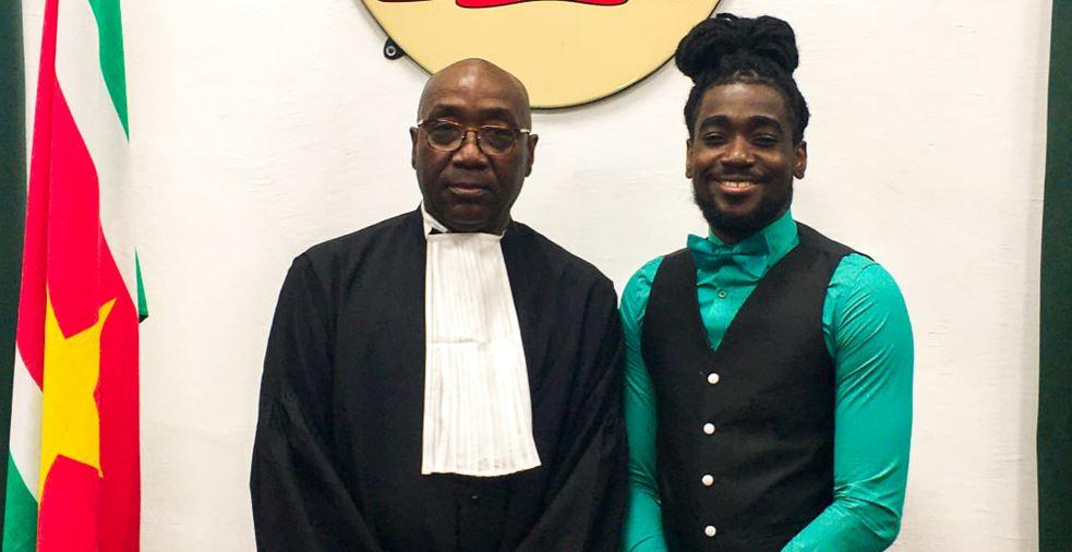 Mijn vader, Meester Robby Amain is beëdigd tot advocaat in Suriname