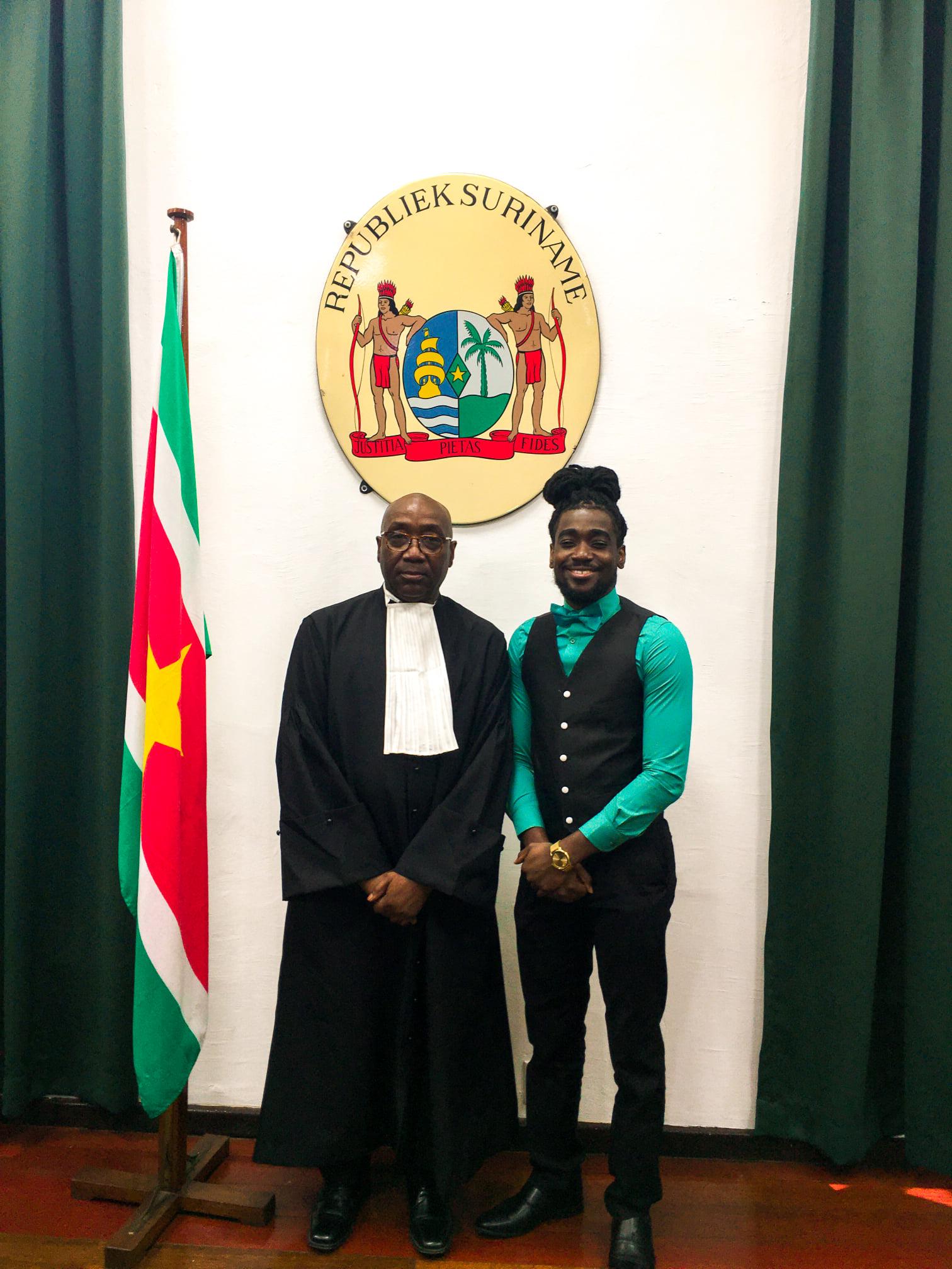 mijn vader de advocaat Robby Amain felicitaties