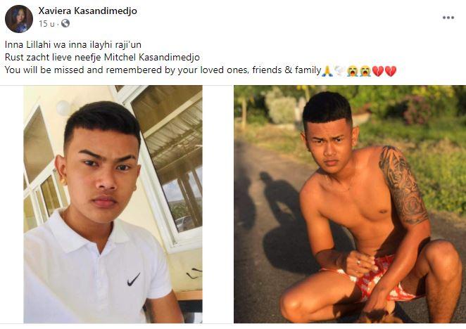 19 jaar Mitchel Kasandimedjo verkeer politie Suriname 1