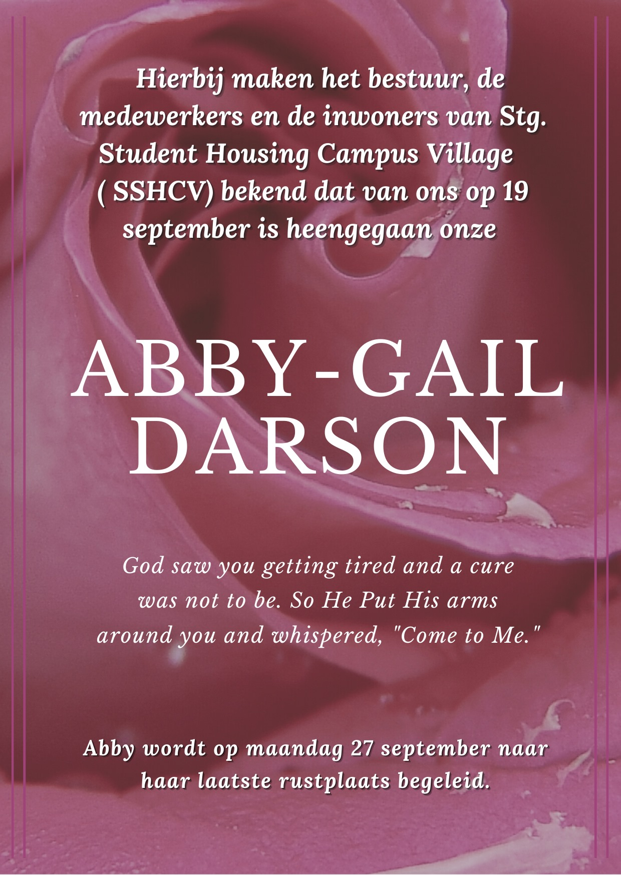 Abby-Gail Darson Paramaribo Suriname