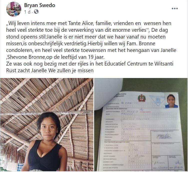 Janelle Bronne Witsanti Suriname dochter