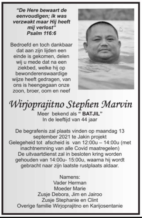 Marvin Wirjoprajitno Suriname 1