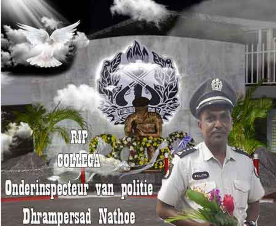 Sunil Nathoe politie Suriname Paramaribo
