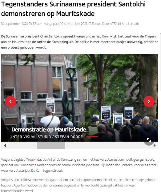 Suriname Nederland bezoek Amsterdam
