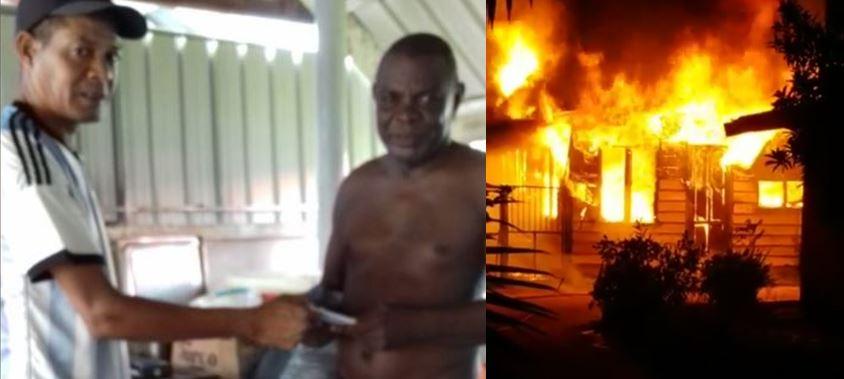 """Video's – """"Al mijn kleren zijn gebrand"""" Felle brand te Paramaribo Noord"""