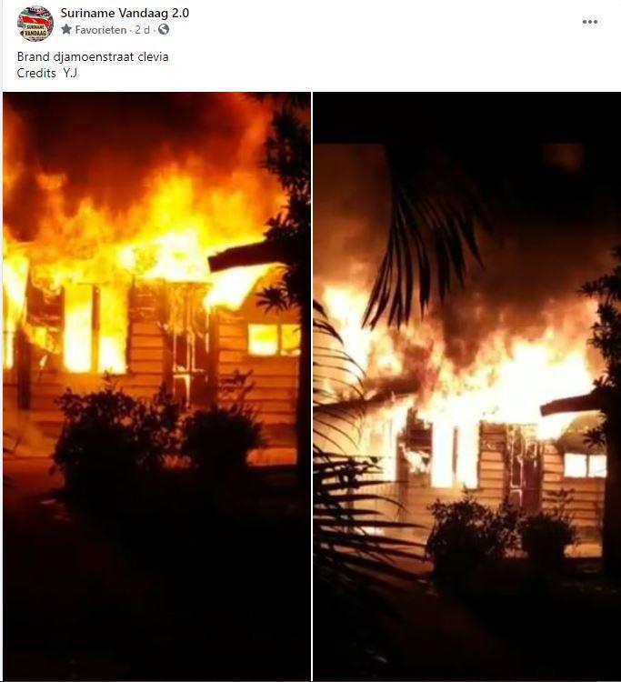 brand Paramaribo Noord Beuk kleding