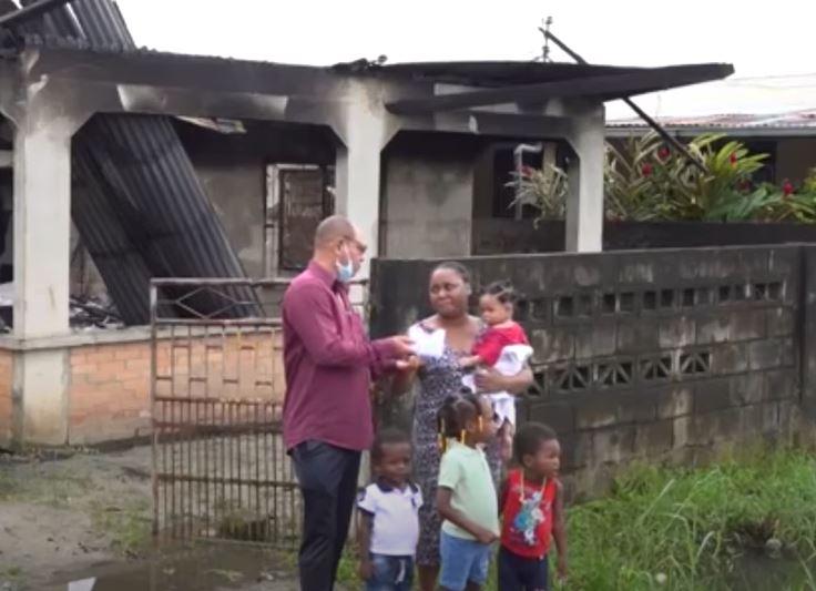 kinderen adel brand woning kindertehuis Suriname Paramaribo Nederland