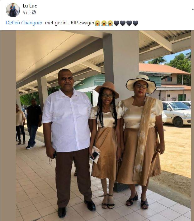 Defien Changoer collega politie Suriname Paramaribo