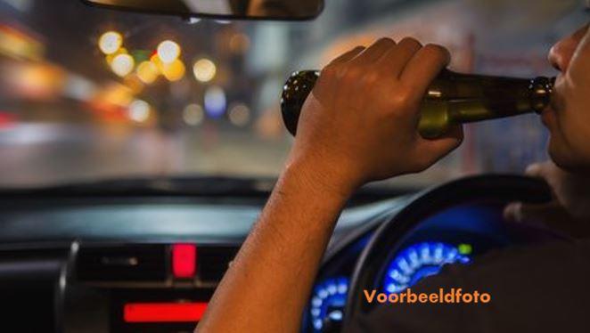 dronken chauffeur Suriname politie Paramaribo